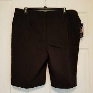Black Bermuda Style Shorts
